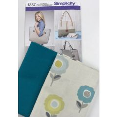 Sewing Project: Bag pattern and floral fabric bundle