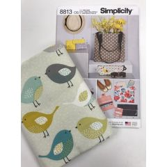 Sewing Project: Bag pattern and bird fabric bundle