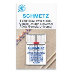 Schmetz Universal Twin 4.0/80 Machine Needle (1 Pack)