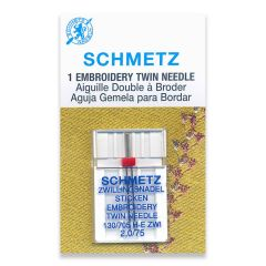 Schmetz Embroidery Twin 2.0/75 Machine Needle (1 Pack)