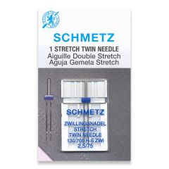 Schmetz Stretch Twin 2.5/75 Machine Needle (1 Pack)