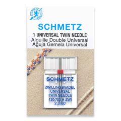 Schmetz Universal Twin 2.0/80 Machine Needle (1 Pack)