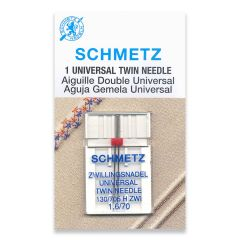 Schmetz Universal Twin 1.6/70 Machine Needle (1 Pack)