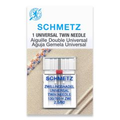 Schmetz Universal Twin 2.5/80 Machine Needle (1 Pack)