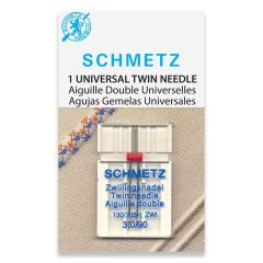 Schmetz Universal Twin 3.0/90 Machine Needle (1 Pack)