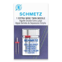 Schmetz Universal Twin 6.0/100 Machine Needle (1 Pack)