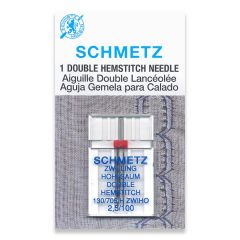 Schmetz Double Hemstitch 2.5/100 Machine Needle (1 Pack)
