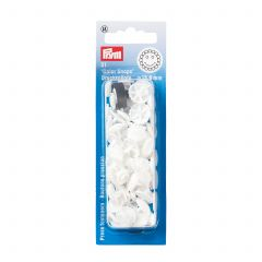 Prym Colour Snaps 13.6Mm  Prym Colour Snaps White Flower