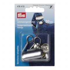 416410 Prym Dungarees Fittings 30mm Silver