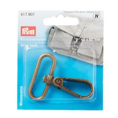 417907 Prym Snap Hook 40 x 60mm Antique Brass