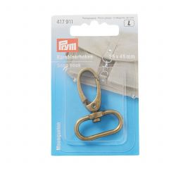 417911 Prym Snap Hook 25mm Antique Brass
