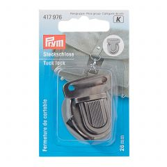 Prym Tuck Lock 26mm Antique Silver