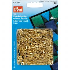 Prym Safety Pins Curved 38mm Gold