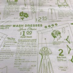 Vintage Sewing Pattern (22710) - End of Bolt 2m Piece