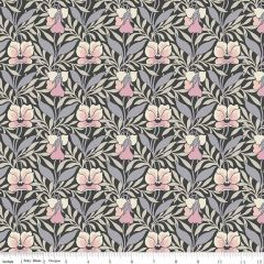 Liberty: Harriets Pansy Black (24728) - End of Bolt 80cm piece