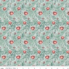 Liberty: Pipers Peacock Green (24742) - End of Bolt 90cm piece