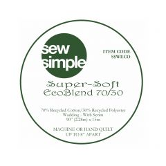 Super-Soft 70/30 Eco Blend Wadding