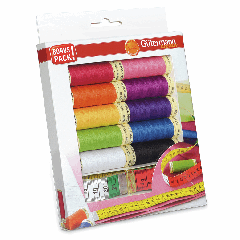 Gutermann Thread Set Sew All With Measuring Tape