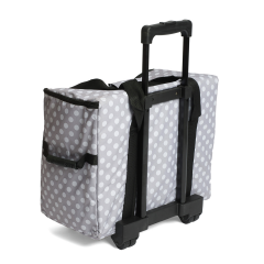 Sewing Machine Trolley Bag Grey Spot