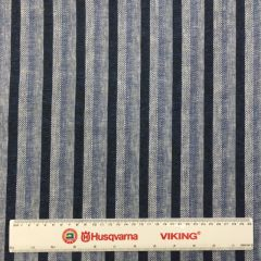 Linen Mix Thick Stripe Blue (24676)