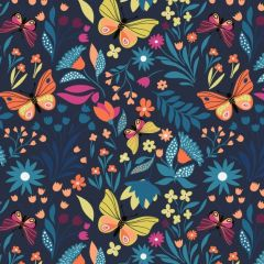 French Terry: Butterfly Print (25185)
