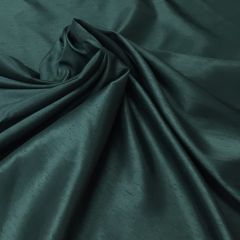 Polyester Satin-Backed Dupion: Bottle Green (10931) - End of Bolt 1m piece