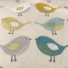Cotton Canvas: Bird Ochre (24333)