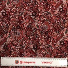 24693 Viscose Floral Red