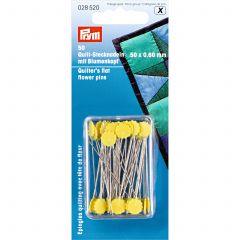 Prym Quilters Flat Flower Pins 0.60 x 50mm Yellow