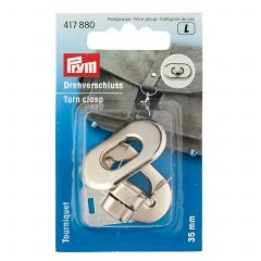 Prym Turn Clasp For Bags Antique Silver