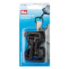 Prym Snap Hook Set 30mm Black
