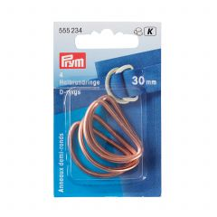 Prym D-Rings 30mm Rose Gold