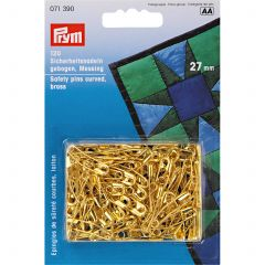 Prym Safety Pins Curved 27mm Gold