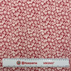 Jersey: Floral Red (25050) - End of Bolt 1.6m piece