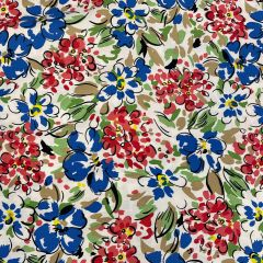 Cotton Poplin: Red Floral (25178)
