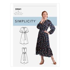 Simplicity Pattern S9041 Misses` Front Tie Dress In Three Lengths