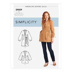 Simplicity Pattern S9059 Misses` Jacket In Three Lengths