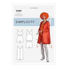 Simplicity Pattern S9085 Misses` Historical Costume Robe, Tops, Bottoms & Rompers