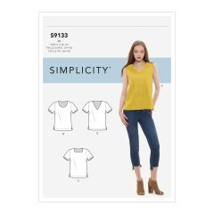 Simplicity Pattern S9133 Misses' Tops