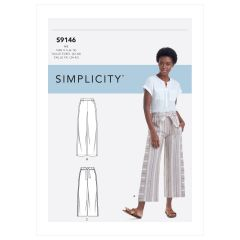 Simplicity Pattern S9146 Misses' Pull-On Pants