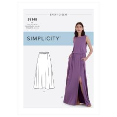 Simplicity Pattern S9148 Misses' Skirts & Top