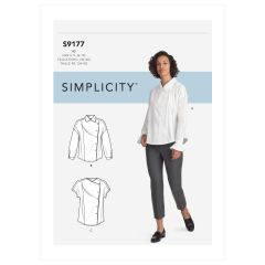 Simplicity Pattern S9177 Misses' Tops