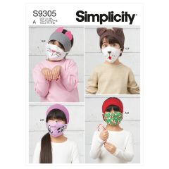 Simplicity Pattern S9305 Children`s Headbands, Hat & Face Coverings