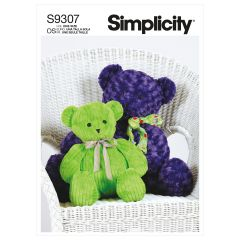 Simplicity Pattern S9307 Plush Bears in Two Sizes