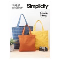 Simplicity Pattern S9308 Tote Bags in Three Sizes