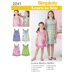 Simplicity Pattern 2241 Learn to Sew Child`s & Girl`s Dresses