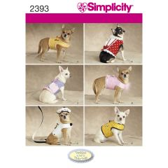 Simplicity Pattern 2393 Dog Clothes