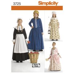 Simplicity Pattern 3725 Child & Girl Costumes