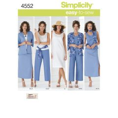 Simplicity Pattern 4552 Women`s & Plus Size Smart and Casual Wear