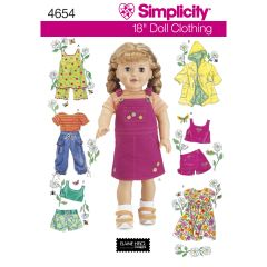 Simplicity Pattern 4654 Doll Clothes